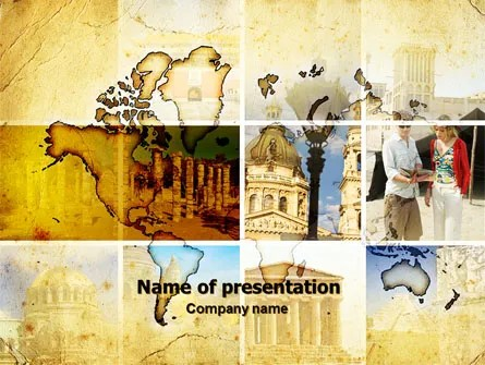 Historical Places PowerPoint Template, Backgrounds 06159 - history powerpoint template