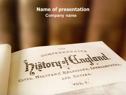 History Of England Free PowerPoint Template, Backgrounds 06723 - history powerpoint template