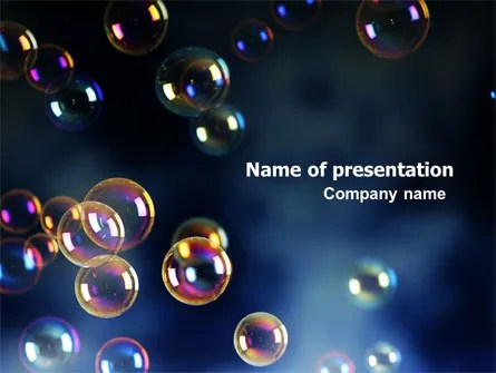 Soap Bubbles PowerPoint Template, Backgrounds 06783 - bubbles power point