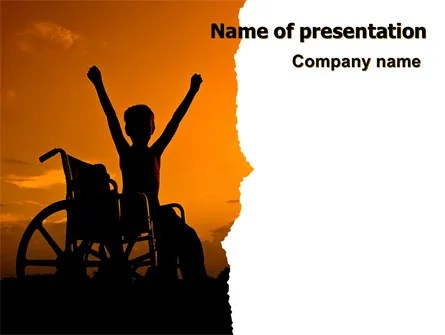 Disabled Children PowerPoint Template, Backgrounds 06822