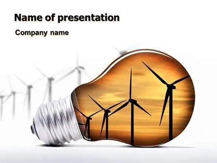 Energy Saving Technologies PowerPoint Template, Backgrounds 06908