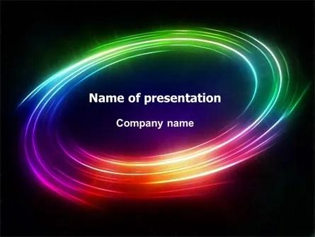 Rainbow Circle PowerPoint Template, Backgrounds 07005 - rainbow powerpoint