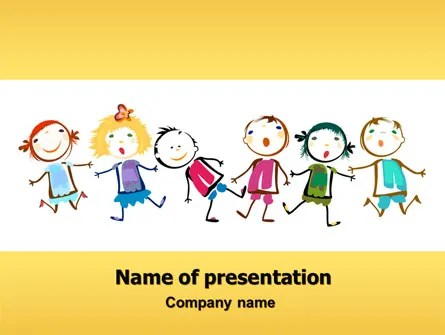 Funny Kids PowerPoint Template, Backgrounds 07045