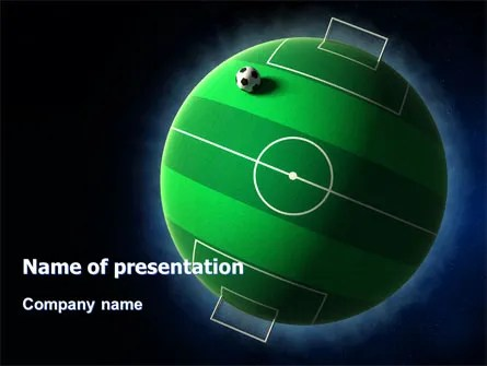 Football Planet PowerPoint Template, Backgrounds 07068 - football powerpoint template