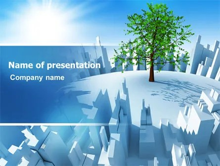 Industrialization and Nature PowerPoint Template, Backgrounds - nature powerpoint