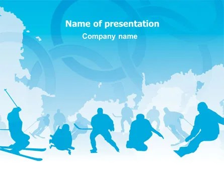 winter power point backgrounds template