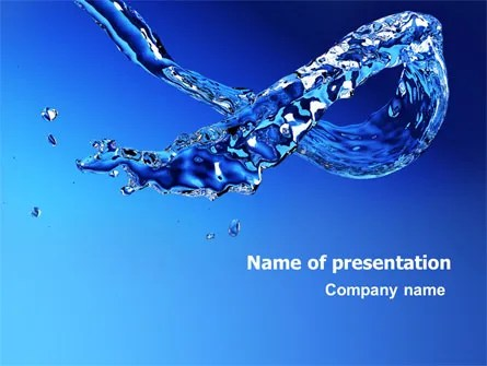 Blue Water PowerPoint Template, Backgrounds 07546 - water powerpoint template