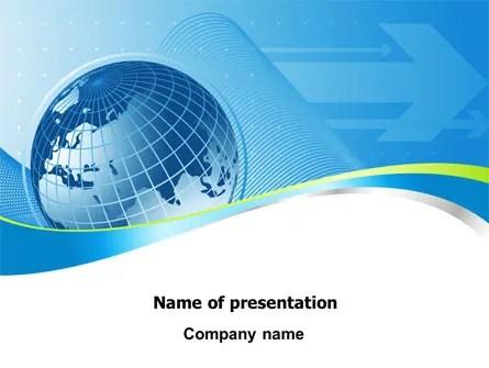 Global Telecommunication PowerPoint Template, Backgrounds 07709 - global powerpoint template