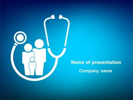 Family Medicine PowerPoint Template, Backgrounds 07748