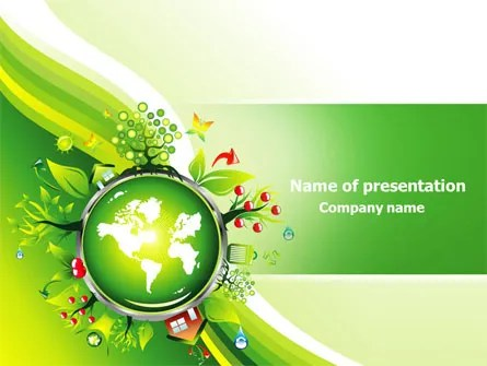 Blooming Earth Concept PowerPoint Template, Backgrounds 07758