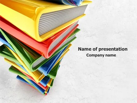 Pile of Books PowerPoint Template, Backgrounds 07825