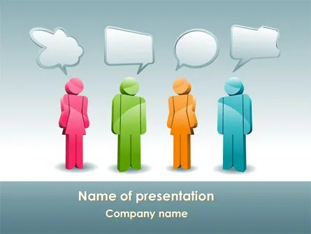 Speech Bubbles PowerPoint Template, Backgrounds 08198 - bubbles power point