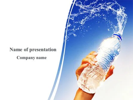 Mineral Water PowerPoint Template, Backgrounds 08260