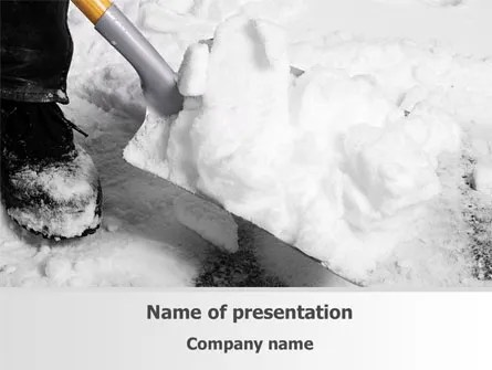 Snow Shovel Free PowerPoint Template, Backgrounds 08314