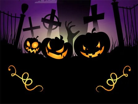 Violet Halloween Night Free PowerPoint Template, Backgrounds 08868