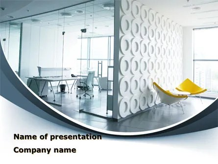 Modern Office Space PowerPoint Template, Backgrounds 09624 - office powerpoint template