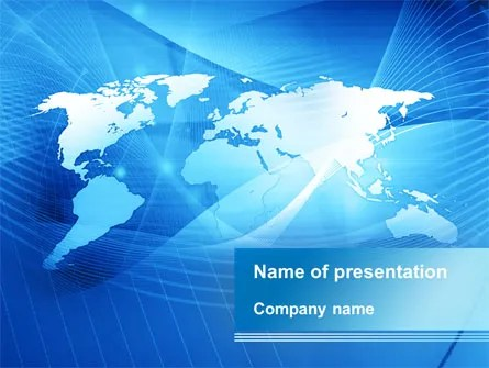 Blue Earth Map PowerPoint Template, Backgrounds 09672 - global powerpoint template