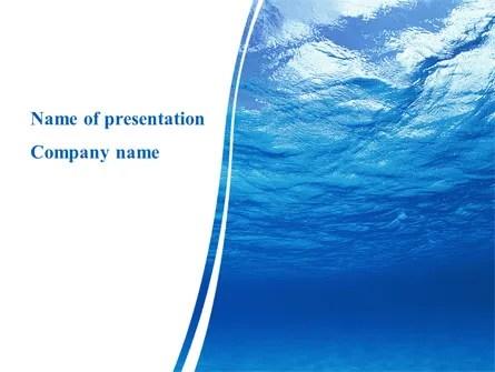 Picture Taken Under Water PowerPoint Template, Backgrounds 09905 - water powerpoint template