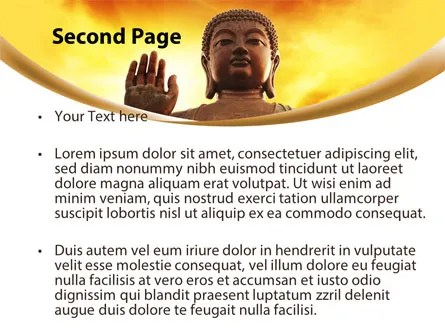 Buddha PowerPoint Template, Backgrounds 10221 PoweredTemplate - buddhism powerpoint