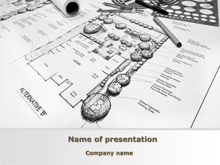 Landscape Design PowerPoint Template, Backgrounds 10261