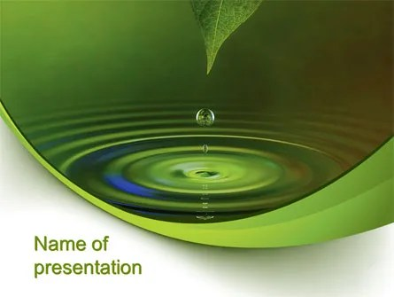 Green Water PowerPoint Template, Backgrounds 10446