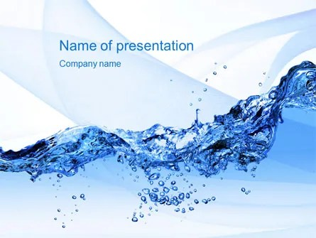 Crystal Water PowerPoint Template, Backgrounds 10453