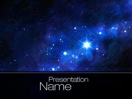 Constellation PowerPoint Template, Backgrounds 10725