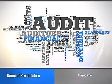 Audit Word Cloud PowerPoint Template, Backgrounds 11008 - audit template word