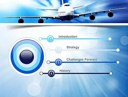 Jet Aircraft PowerPoint Template, Backgrounds 11030
