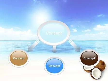 Coconut PowerPoint Template, Backgrounds 11042 PoweredTemplate - summer powerpoint template