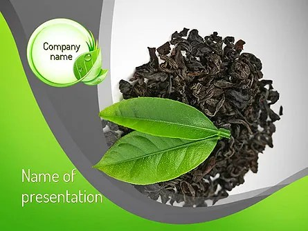 Tea Leaves PowerPoint Template, Backgrounds 11065