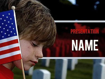 Veterans Day PowerPoint Template, Backgrounds 11326
