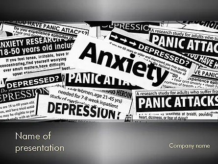 Mental Health PowerPoint Template, Backgrounds 11367