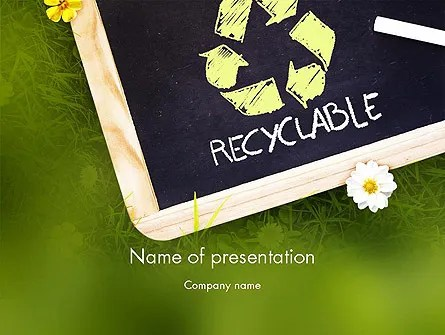 Waste Management PowerPoint Template, Backgrounds 11419