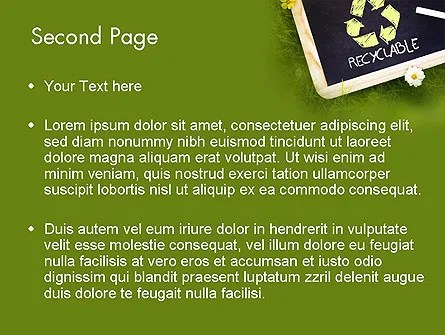 Waste Management PowerPoint Template, Backgrounds 11419 - waste management ppt