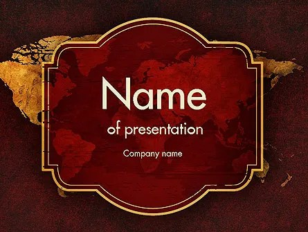 Vintage Style World Map PowerPoint Template, Backgrounds 11447
