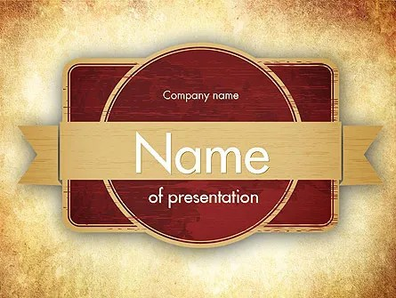 Vintage Label Theme PowerPoint Template, Backgrounds 11451