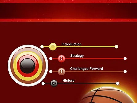 Basketball Planet PowerPoint Template, Backgrounds 11510 - basketball powerpoint template