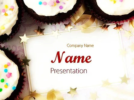 Birthday Invitation PowerPoint Template, Backgrounds 11709