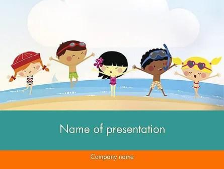 Summer Fun PowerPoint Template, Backgrounds 11950