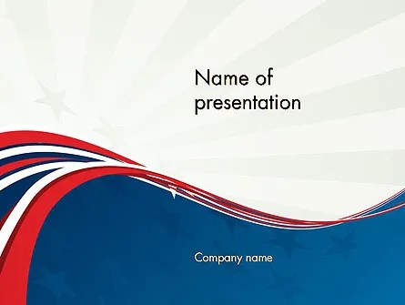 Patriotic Themed PowerPoint Template, Backgrounds 11983