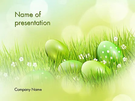 Easter Theme PowerPoint Template, Backgrounds 12100