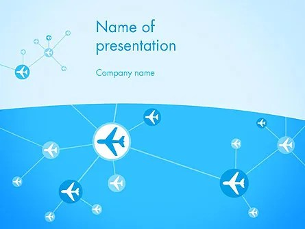 Airlines Theme PowerPoint Template, Backgrounds 12189