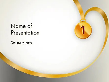 Gold Medal PowerPoint Template, Backgrounds 12214
