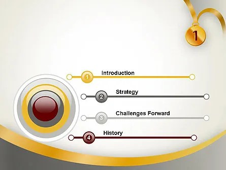 Gold Medal PowerPoint Template, Backgrounds 12214 - gold medal templates