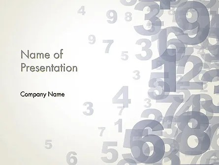 Numerology PowerPoint Template, Backgrounds 12229 - numerology chart template