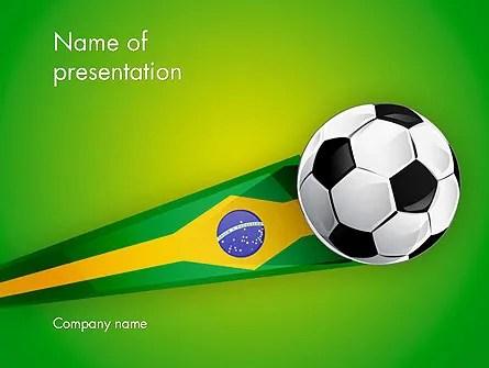 Brazilian Football PowerPoint Template, Backgrounds 12240