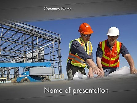 Building and Construction PowerPoint Template, Backgrounds 12502