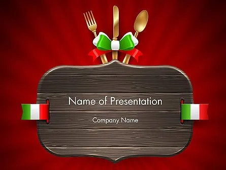 Italian Restaurant PowerPoint Template, Backgrounds 12533