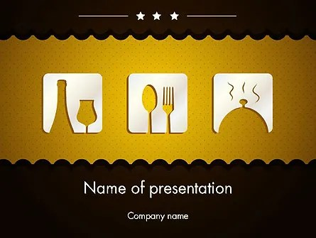 Cookbook Icons PowerPoint Template, Backgrounds 12555